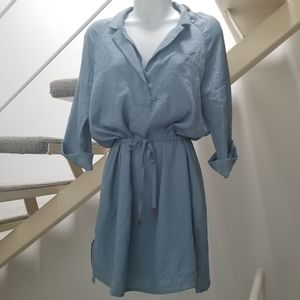 Emporio Armani Dusty Blue Short Dress Size…